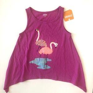 NWT Gymboree Glitter Flamingo Swing Tank Top S 5-6